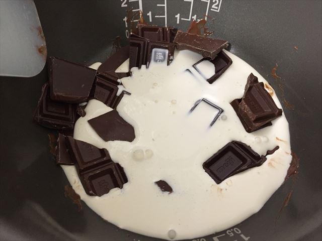 チョコと生クリーム