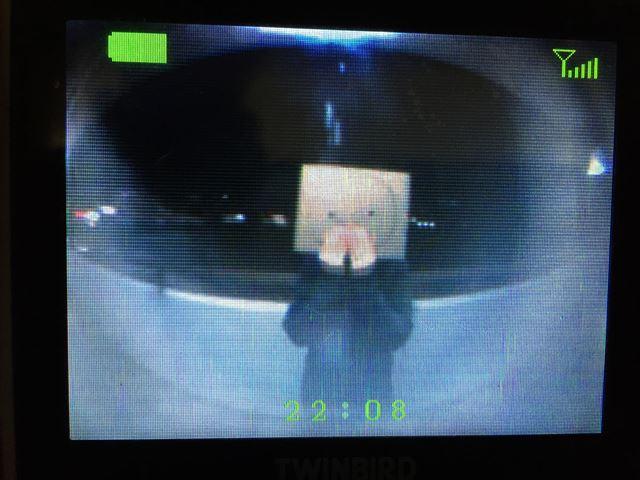 夜間ドアモニターの映像の見え具合