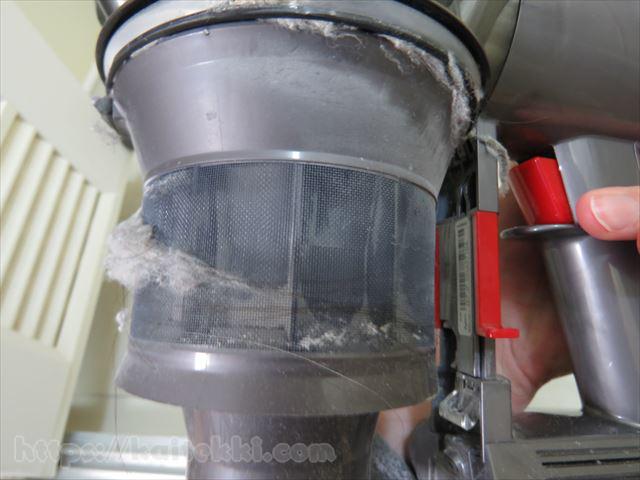 ダイソン-クリアビンの中の汚れ2