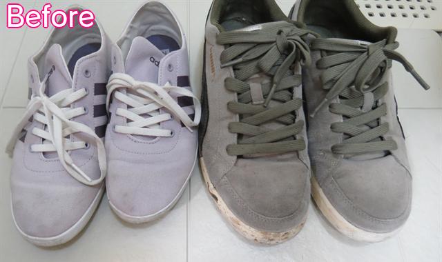 靴のオキシ漬け-Before