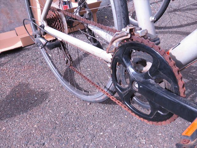 チェーンがサビた自転車