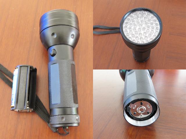 波長395nmの懐中電灯型UV-ledライト
