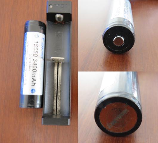 18650電池と充電器