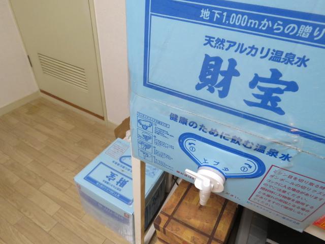 1箱20L入りの財宝温泉水